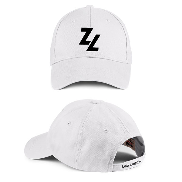 Type Logo – White Baseball Cap