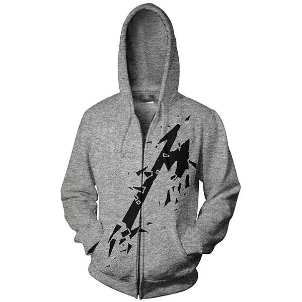 Smashed M - Grey Zip Hoodie