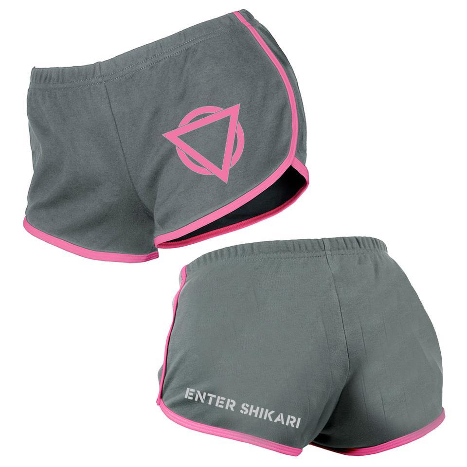 Triangle Booty Shorts (Fuschia/Asphalt)