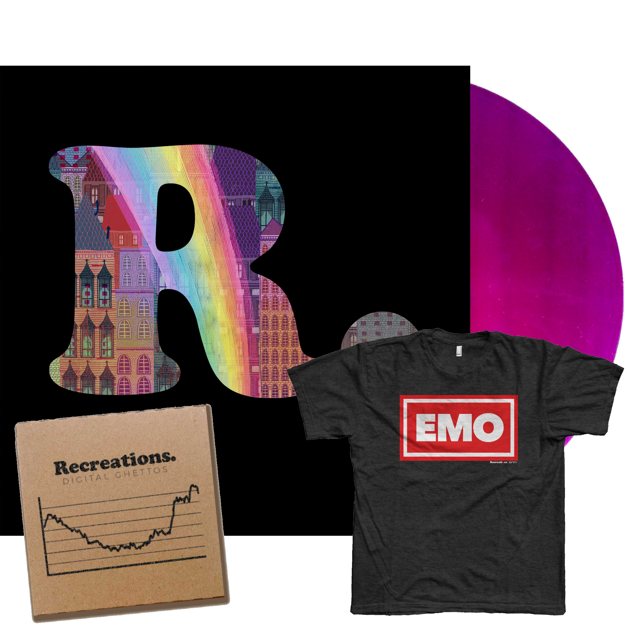 Recreations - Baby Boomers 2 LP [Signed] + Digital Ghettos CD [Signed] + T-Shirt [Preorder]