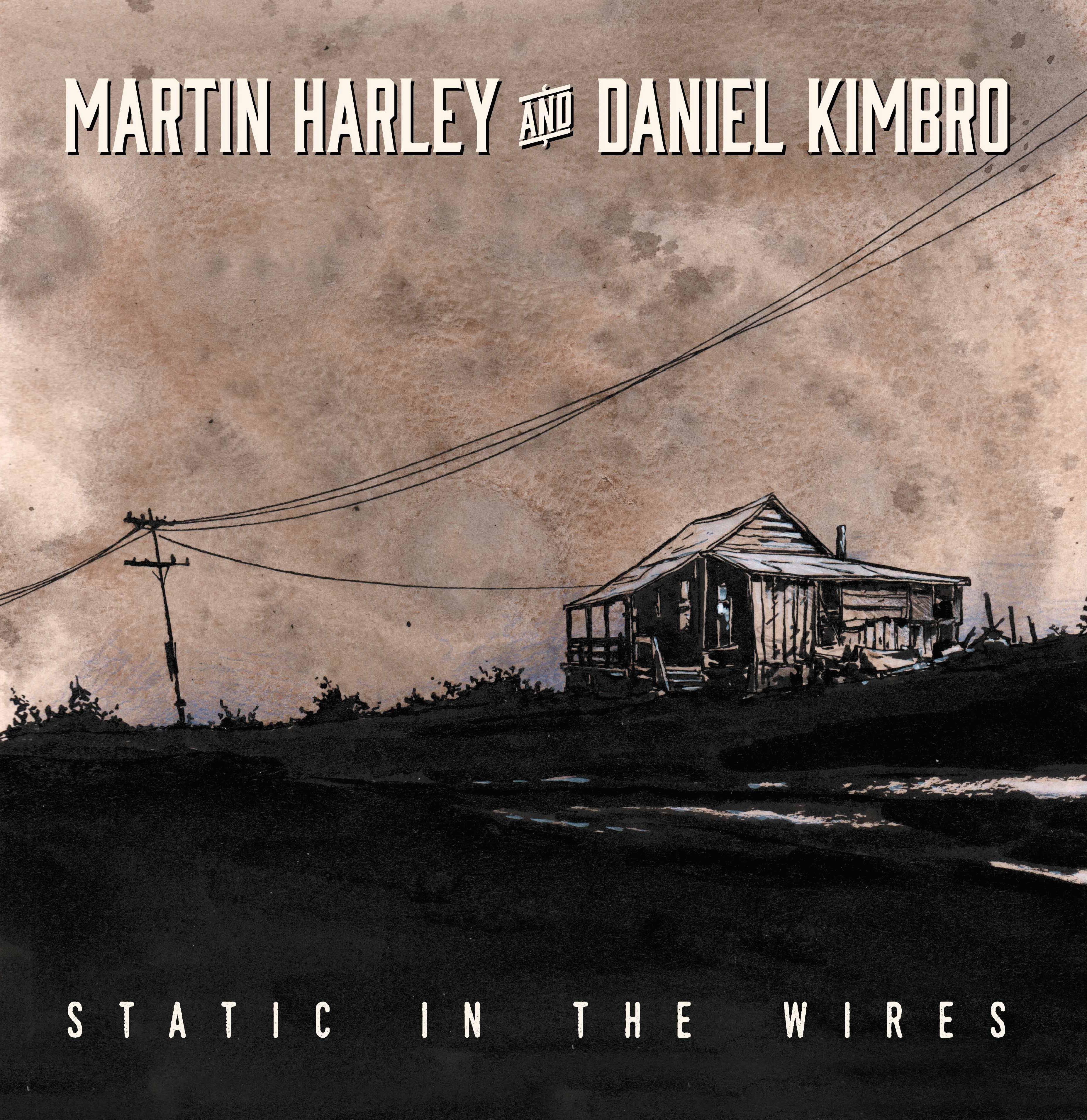 """Static in the Wires - Martin Harley & Daniel Kimbro 12"""" Vinyl"""
