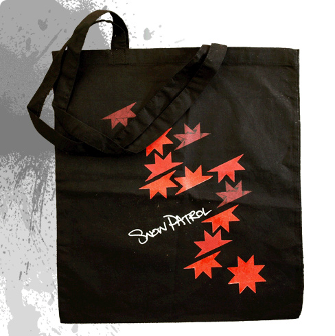 Flakes (Black) - Tote Bag