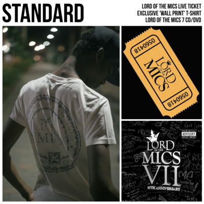 General Admission (collect at venue) + Lord of the Mics 7 (CD/DVD) + Exclusive T-shirt