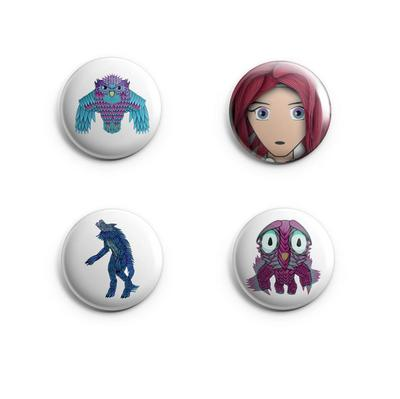 Creatures Of The Night Badge Set (Pack Of 4)