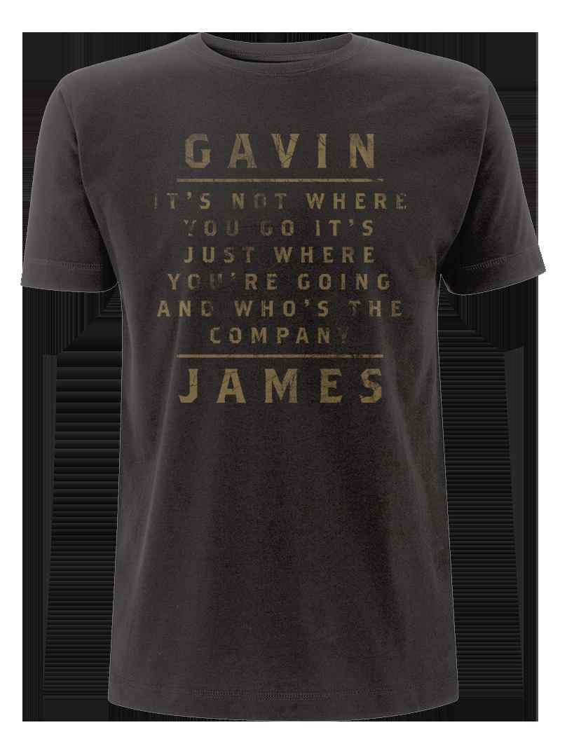 Gavin James - Remember Me Lyric T Shirt (Male)