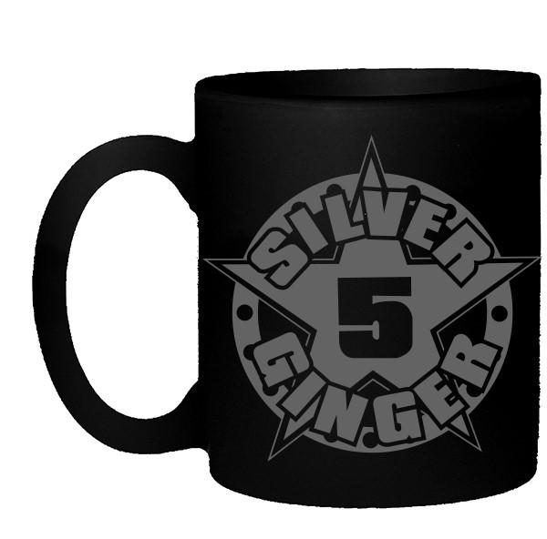 Silver Ginger 5 – Star Logo – Matte Black Mug
