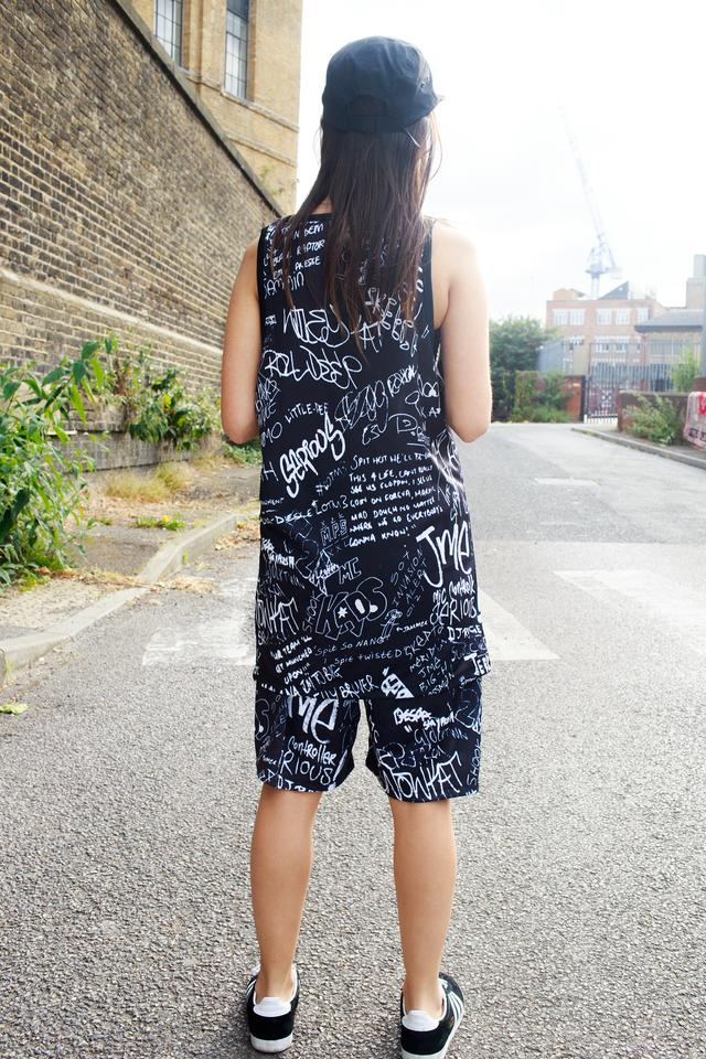 Sub Vests Full Print Black