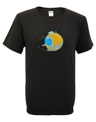 Mens Brown Rock & Roll Submarine T-Shirt